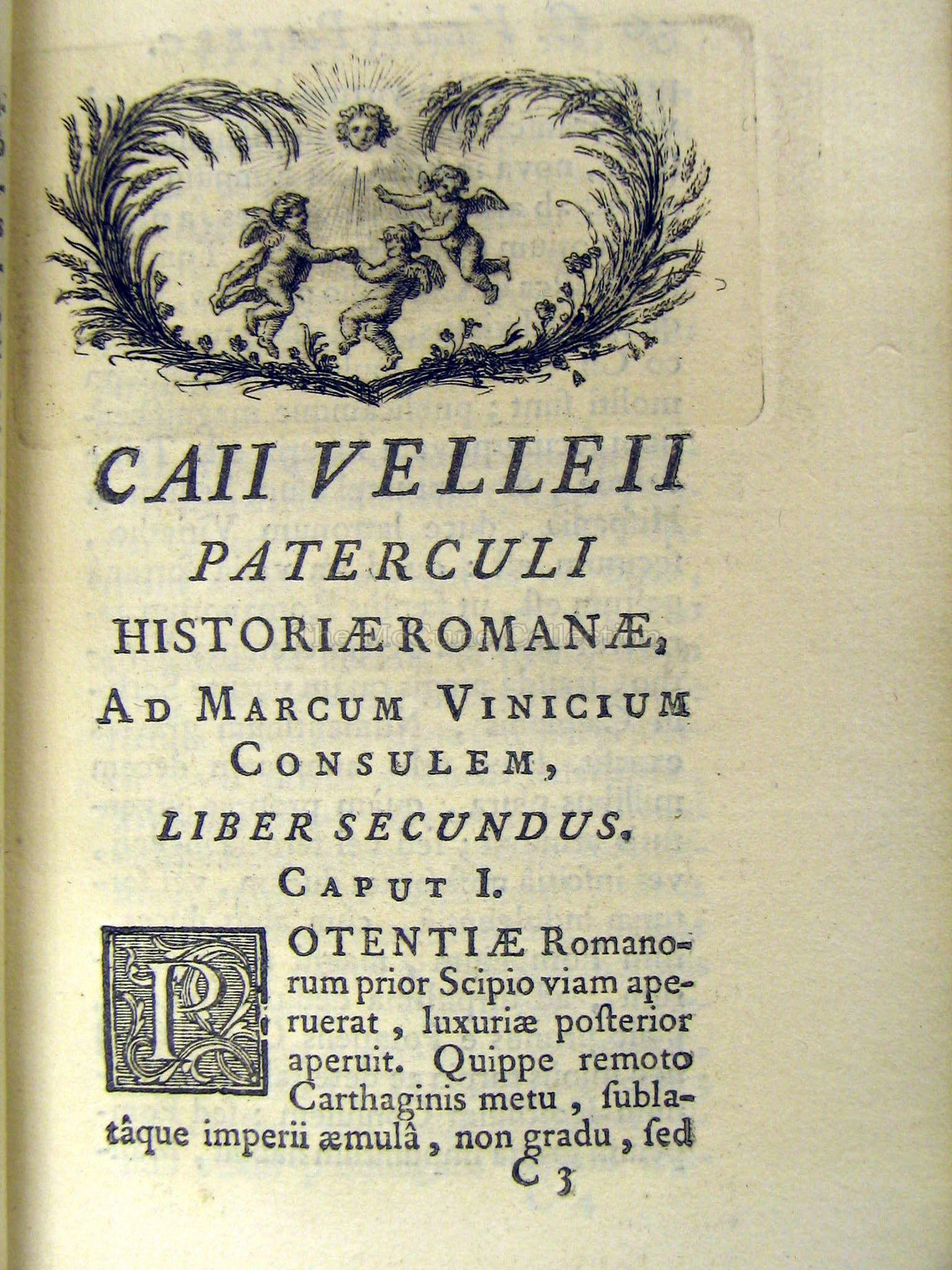 The McCune Collection: Caii Velleii Paterculi Historiae Libri Duo on