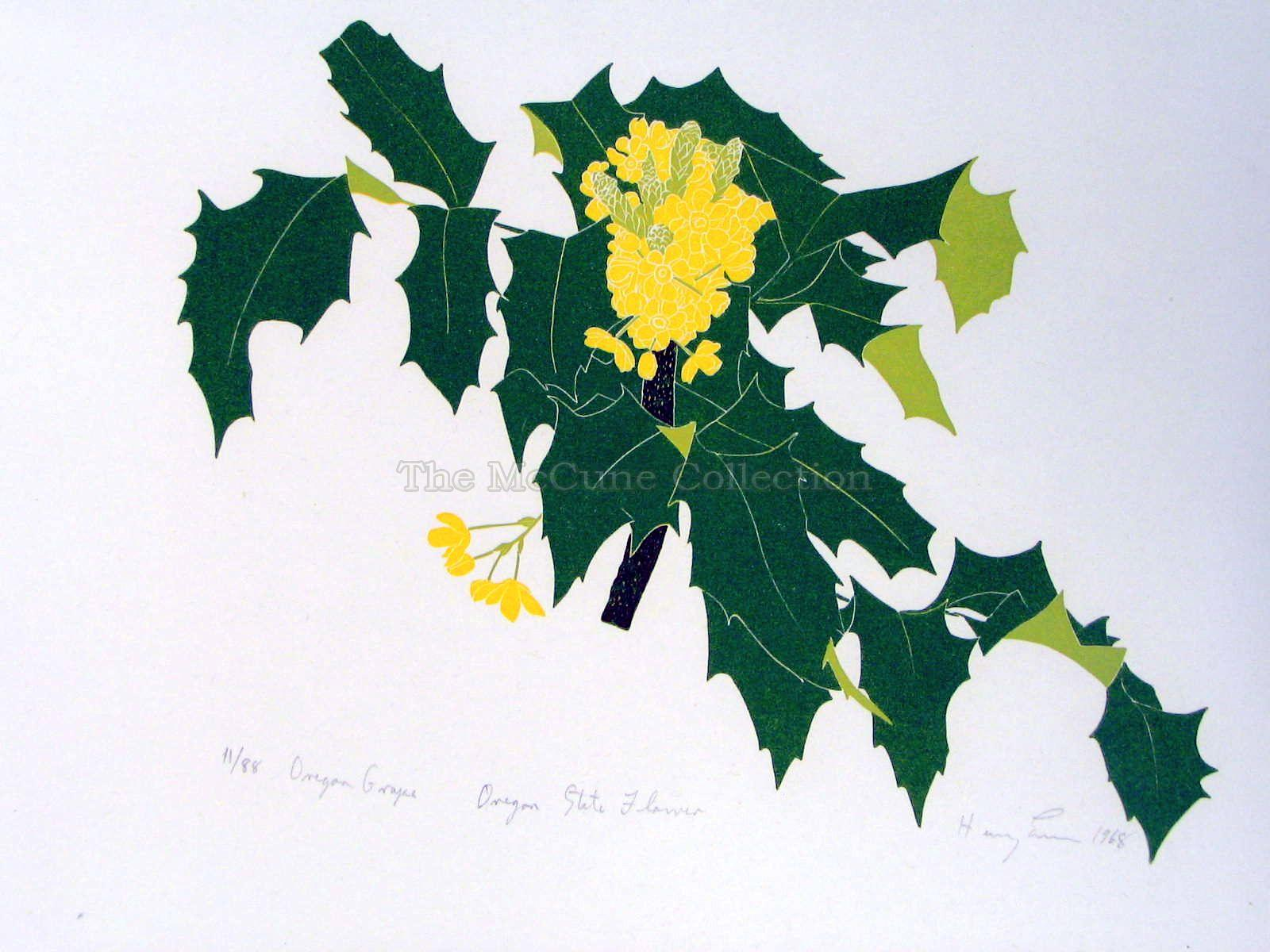 The McCune Collection Henry Evans State Flowers 1 1968