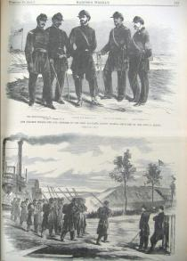 Harper's Weekly 2-28-1863. pg 133. Colored Troops. 1st Louisiana