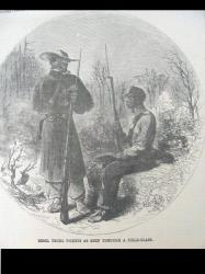 Harper's Weekly 1-2-1863. Front page. Negro pickets