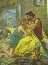 Ulysses & Telmachus (colored). Frontis piece