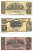 Confederate Currency 3 ($20, $10, $10) front side
