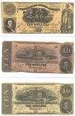 Confederate Currency 4 ($10, $10, $10) front side