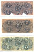 Confederate Currency 7 ($5, $5, $5) back side