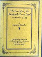 John Henry Nash - Locality of the Broderick-Terry Duel (cover)