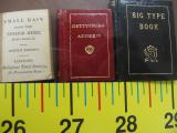 Miniature Books, Three Volumes